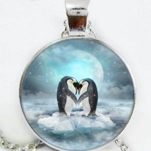 Necklace- NEW- Penguin Love
